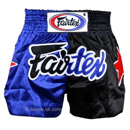 Fairtex Classic Muay Thai Shorts - Black/Blue